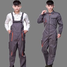 Work overalls males girls protecting coverall repairman strap jumpsuits trousers working uniforms Plus Size sleeveless coveralls