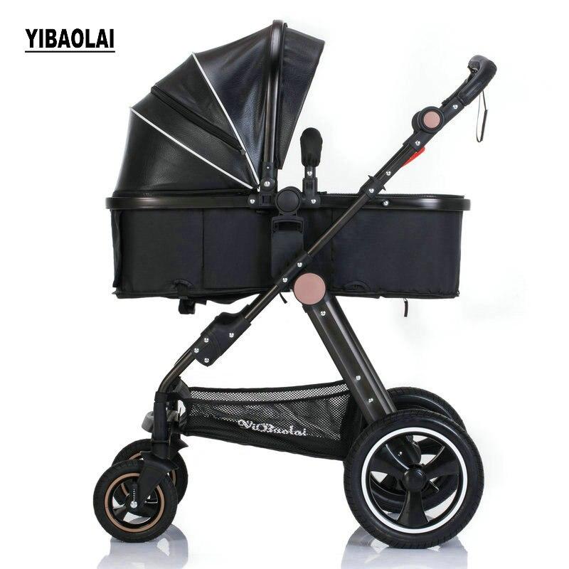 купить YIBAOLAI High landscape stroller can sit reclining folding portable child car trolley shock absorber light stroller по цене 6122.04 рублей