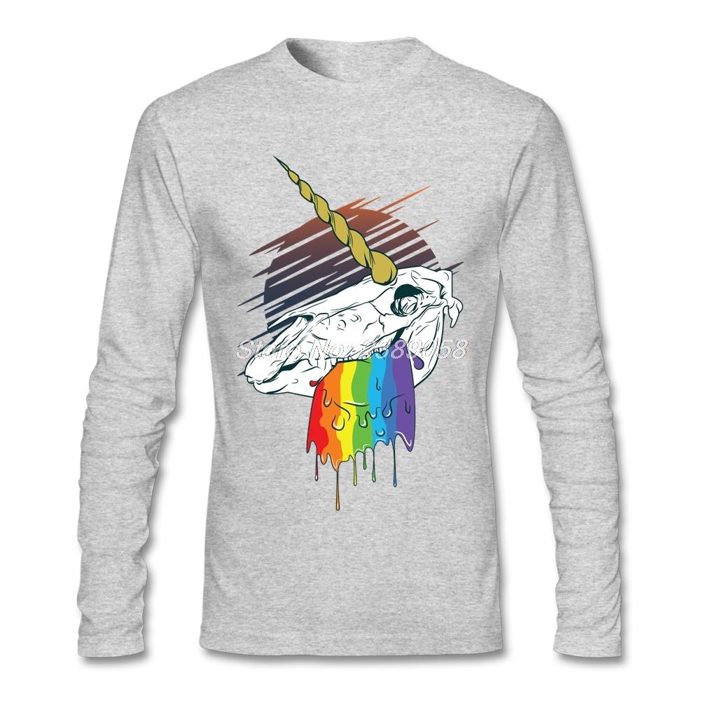 Impression Hommes T shirt de Bande Dessinée Pas Cher Mort Licorne Clothing De Luxe €