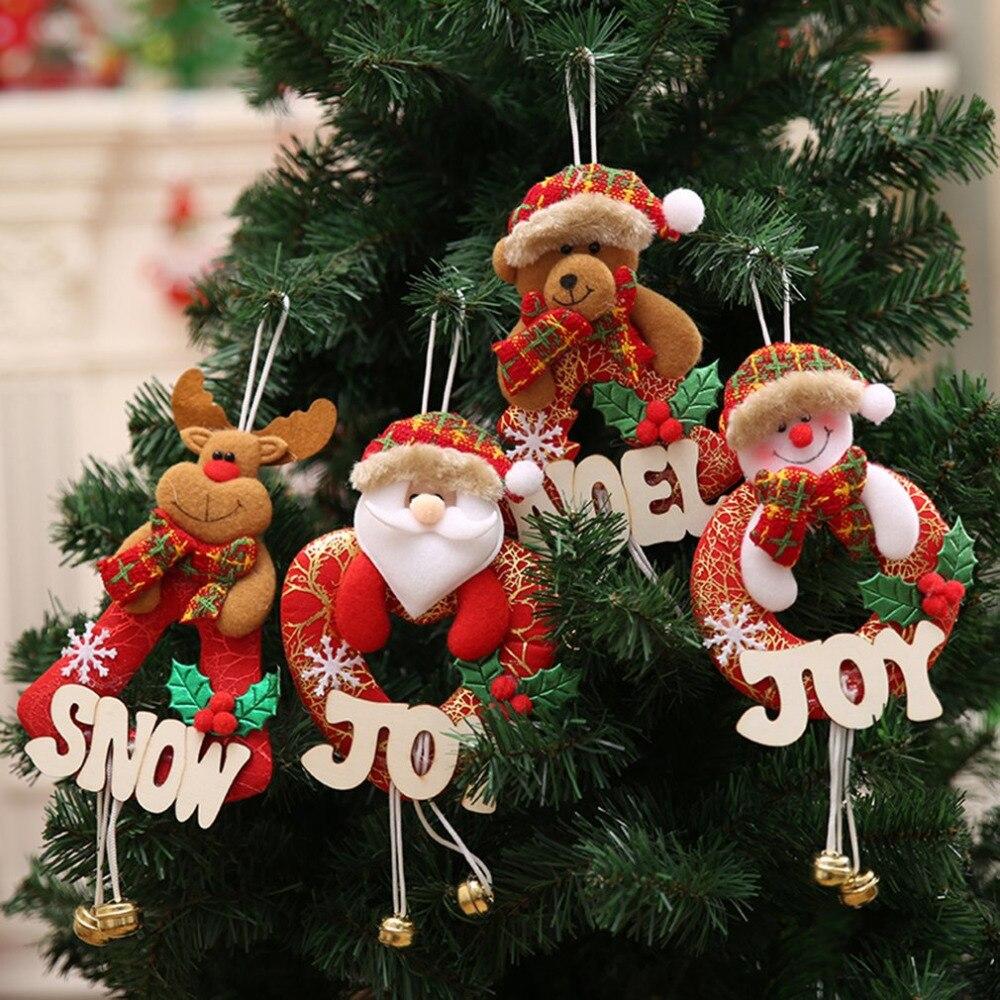 Christmas Decoration Jingle Bell Santa Pendant Christmas ...