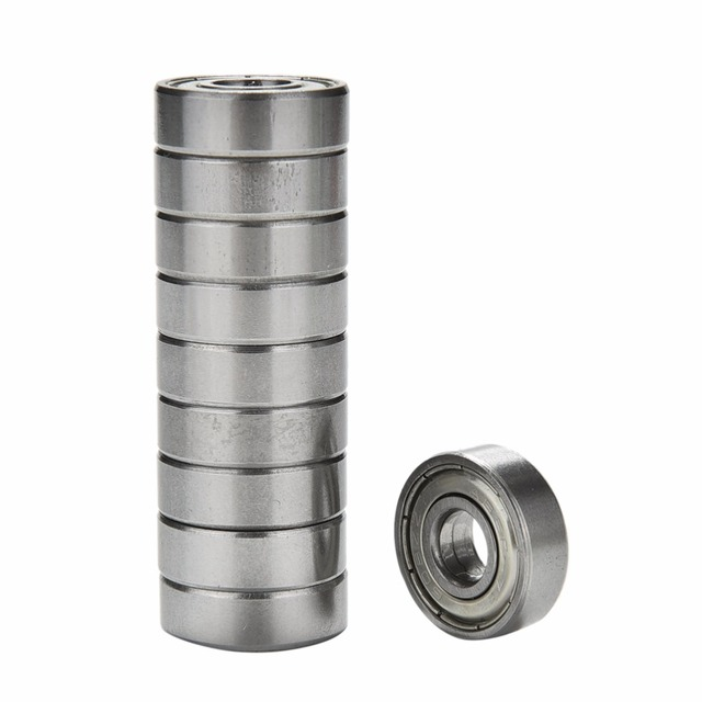 10Pcs Skateboard Bearings Roller Scooter Ball Bearings Skate Wheels Silver For ABEC 5 608ZZ Skateboard Stainless Steel Bearings