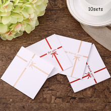10sets  Letter Greeting Card Birthday Party Thanksgiving Wish Wishes DIY