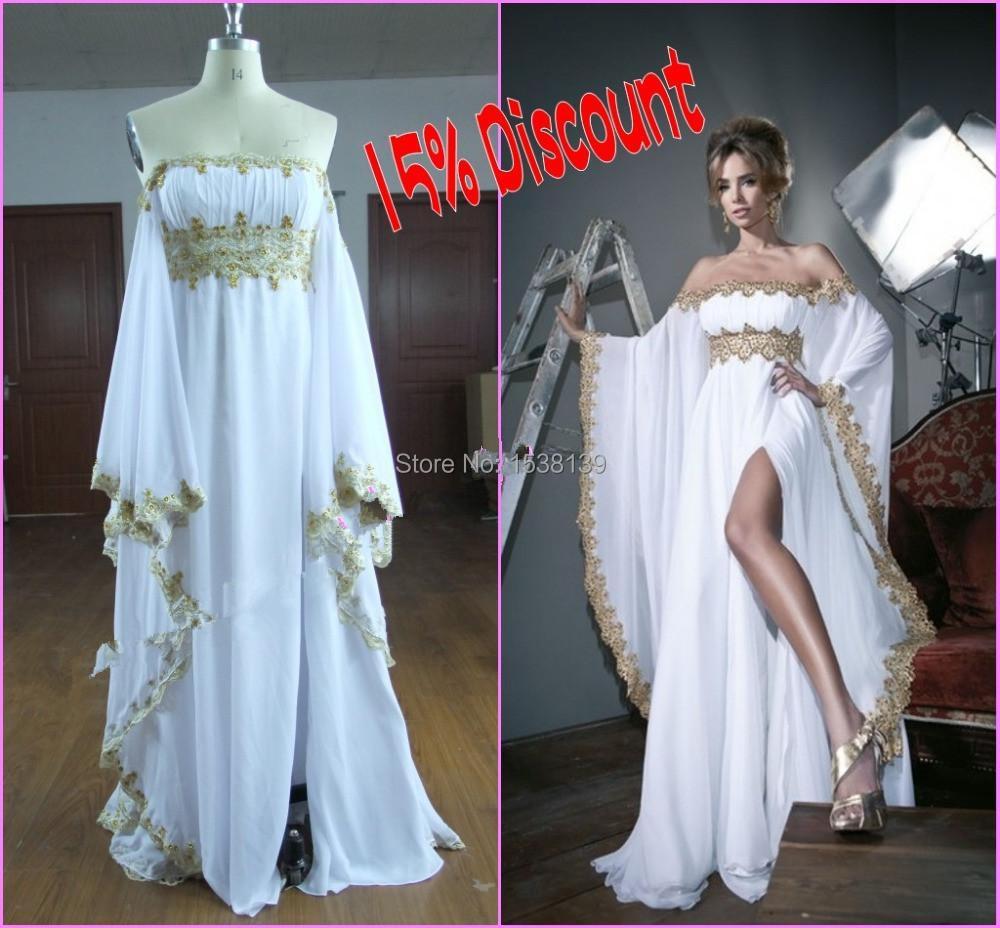 Elegant Long Sleeve Wedding Dresses Muslim Dress 2015: Real Picture Muslim Evening Dress 2015 Elegant Long Sleeve
