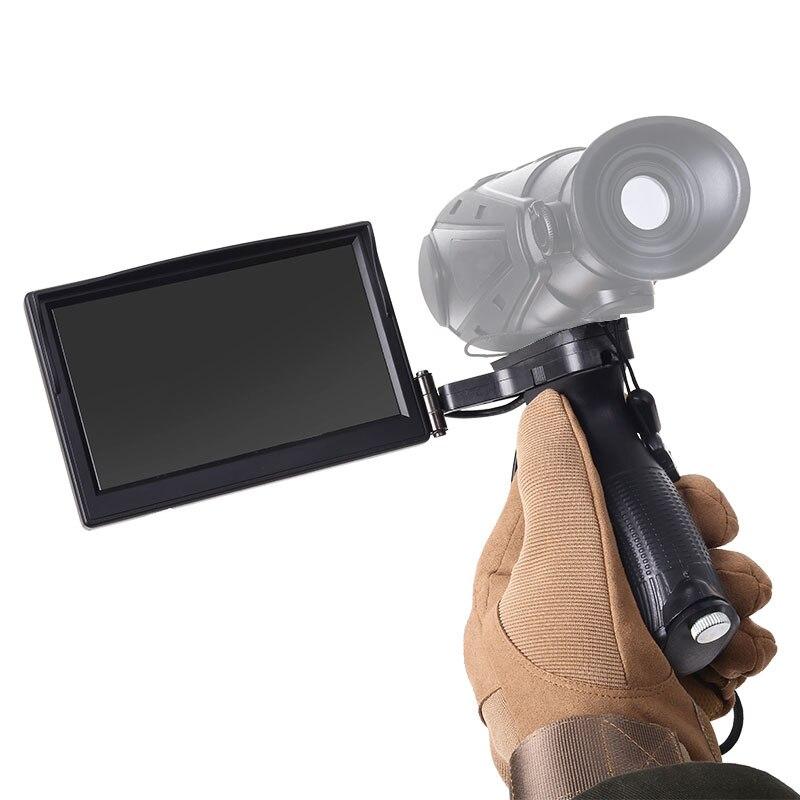 Écran externe portatif d'écran de pliage d'imagerie thermique portatif plusieurs Types de prises avec la poignée de support