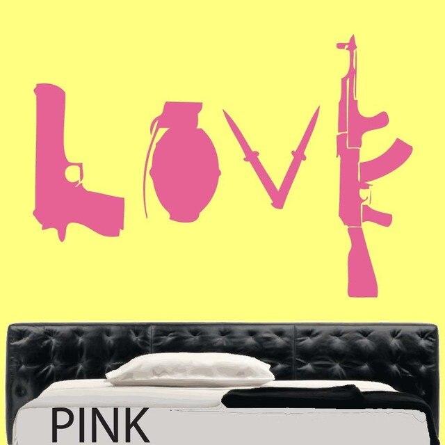 Banksy Love Weapons Wall Sticker Art Wall decal vinyl Wall Stickers ...