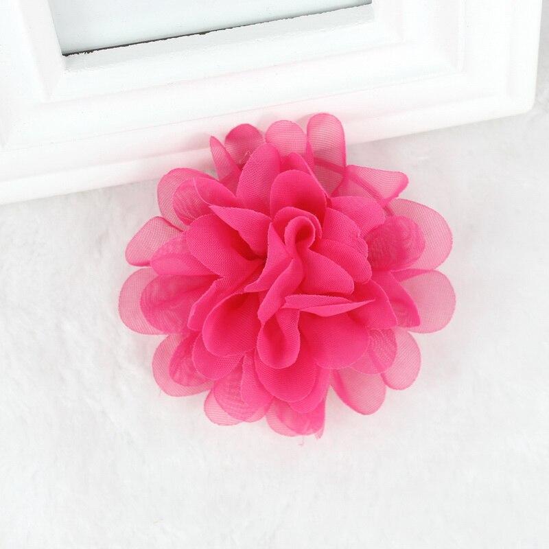 585dfbee21e isnice 2pcs Chiffon Flowers Children Girls Hair Accessories Rubber Bands  Barrettes Girl Headwear Bow hair clip