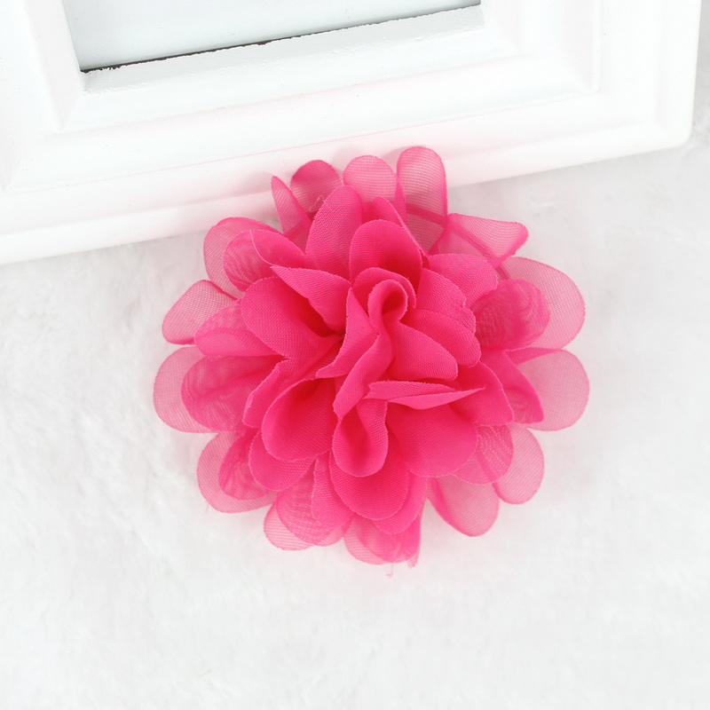 isnice 2pcs Chiffon Flowers Children Girls Hair Accessories Rubber Bands Barrettes Girl   Headwear   Bow hair clip