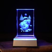Polar Bear Novelty 3D Night Light Color Changing  novidade LED Lamps For Living Room AAA battery powered led lamp