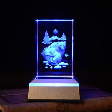 polar bear novelty 3d night light color changing novidade aaa alimentado por bateria levou lampada