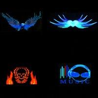 Music Car Sticker Sound Activated Equalizer Neon Light Car Music Rhythm LED Flash Light Led Car