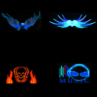 Music Car Sticker Sound Activated Equalizer Neon Light Car Music Rhythm LED Flash Light Led Car
