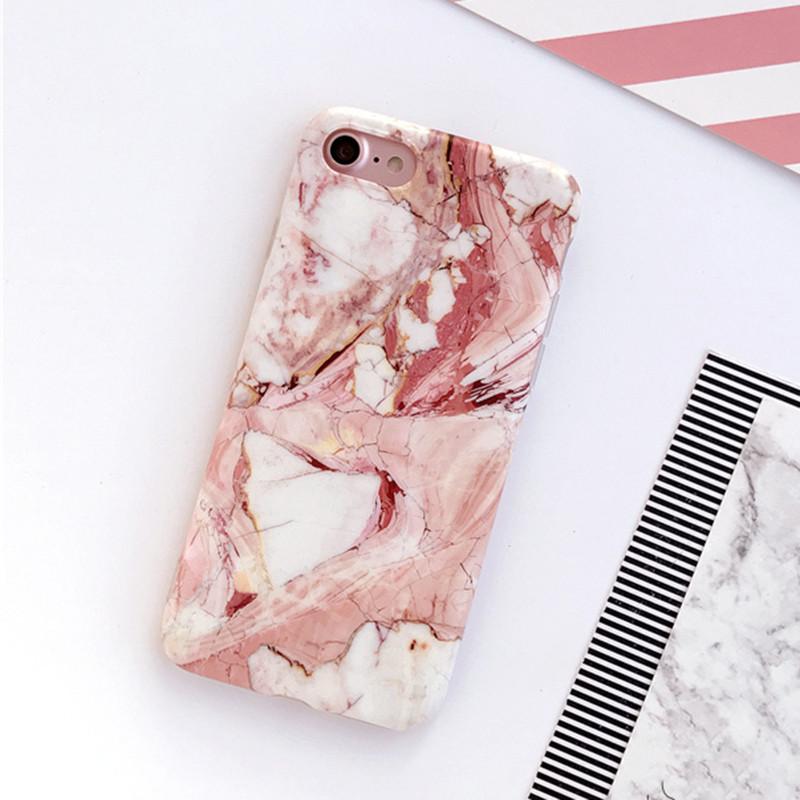 HTB19Wm0OXXXXXXsXFXXq6xXFXXXn - Light Pink Marble Stone Pattern Soft Silicon Phone Cases For iPhone 7 Plus 6 6S Plus Shell PTC 100