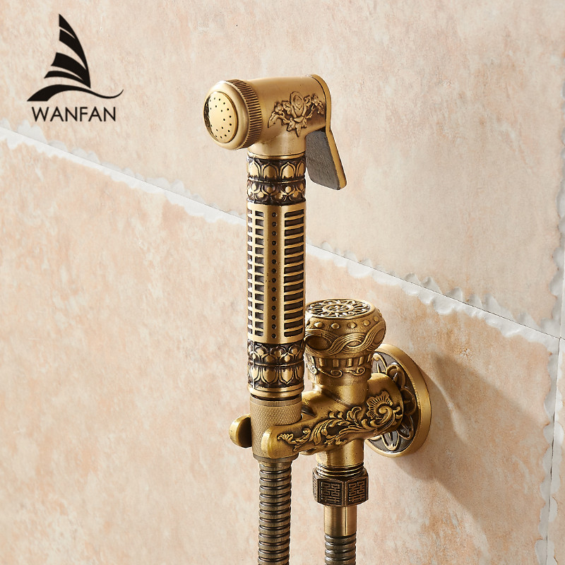 Bidet Faucets Single Cold Brass Wall Handheld Hygienic Shower Spray Head For Wash Bathroom Toilet Car Rinse Pet Airbrush 8891Bidet Faucets Single Cold Brass Wall Handheld Hygienic Shower Spray Head For Wash Bathroom Toilet Car Rinse Pet Airbrush 8891