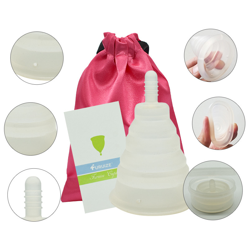 Newest Foldable Copa Menstrual Cup Reusable Feminine Hygiene Silicone Lady Cup With Box With Cloth Bag Foldable Menstrual Cup