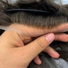 Système de cheveux pour hommes Q6 style hommes système de cheveux dentelle système de cheveux naturel cheveux remy