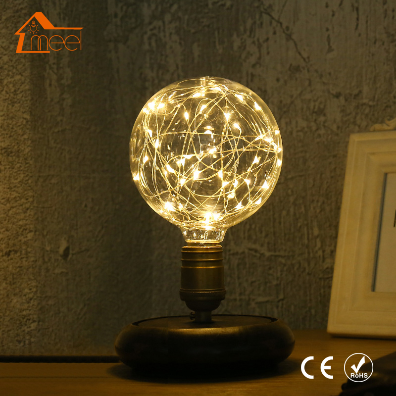 Vintage Design Fairy LED Bulb E27 85V-265V RGB String Light Filament LED Lamp Retro Edison LED Holiday String Bulb G95 110V 220V 5pcs e27 led bulb 2w 4w 6w vintage cold white warm white edison lamp g45 led filament decorative bulb ac 220v 240v