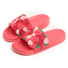 2018 New Fashion Girls Slippers 3D Rose Shoes Teenage Girl Slippers Bohemia  Flower Sandals Big Children 1609a5a2243c