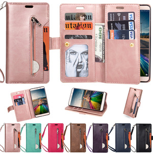 Image 1 - L FADNUT For Huawei P20 P30 P8 Lite 2017 Mate 9 10 20 Pro Case Cover Card Wallet Purse Flip Stand Holder Phone PU Leather Cases