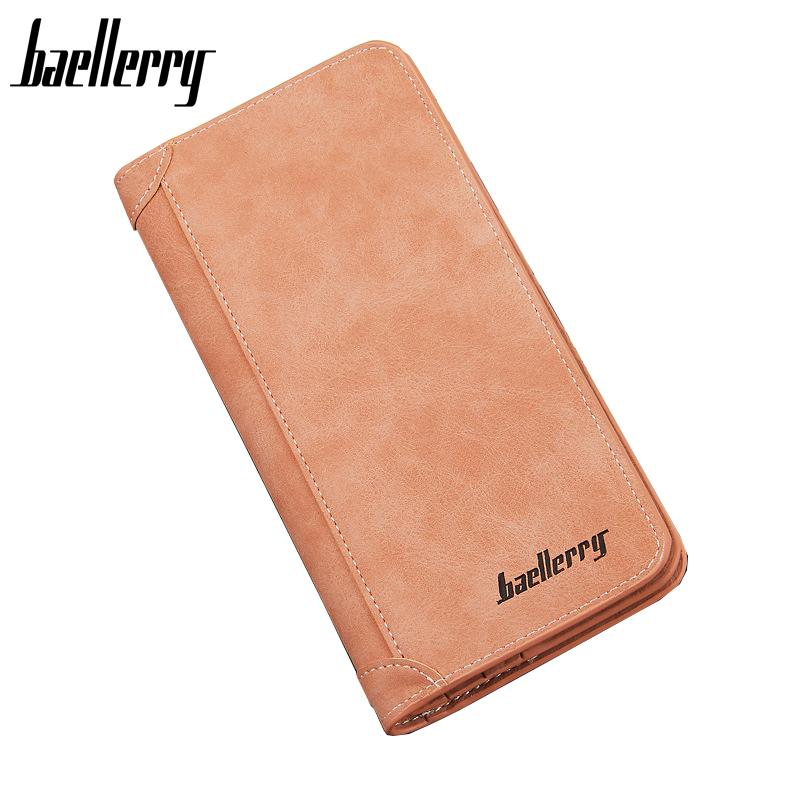 2017 New Fashion Long wallet Man Purse PU leather Wallet High quality designer Brand Baellerry wallets 4 Colors Brown baellerry business black purse soft light pu leather wallets large capity man s luxury brand wallet baellerry hot brand sale
