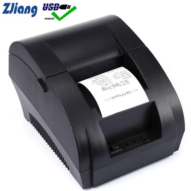 "Zjiang קופה מדפסת תרמית מיני 58mm USB POS קבלת מדפסת עבור Resaurant וסופרמרקט האיחוד האירופי/ארה""ב PLUG"