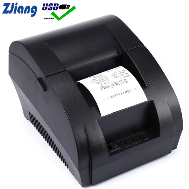 Zjiang POS Thermal Printer Mini 58mm USB POS Receipt Printer For Resaurant and Supermarket EU/US PLUG