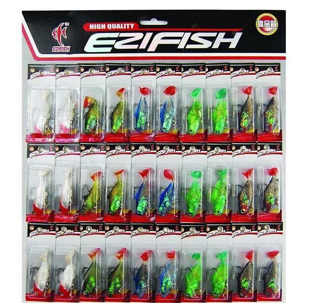 горячие продажи ПЭ рыбная ловля мягкие приманки с высоких крюк рыбная ловля 30 шт./компл. 5.5 см/8.6 г/шт. рыбная ловля мягкие приманки многоцветный