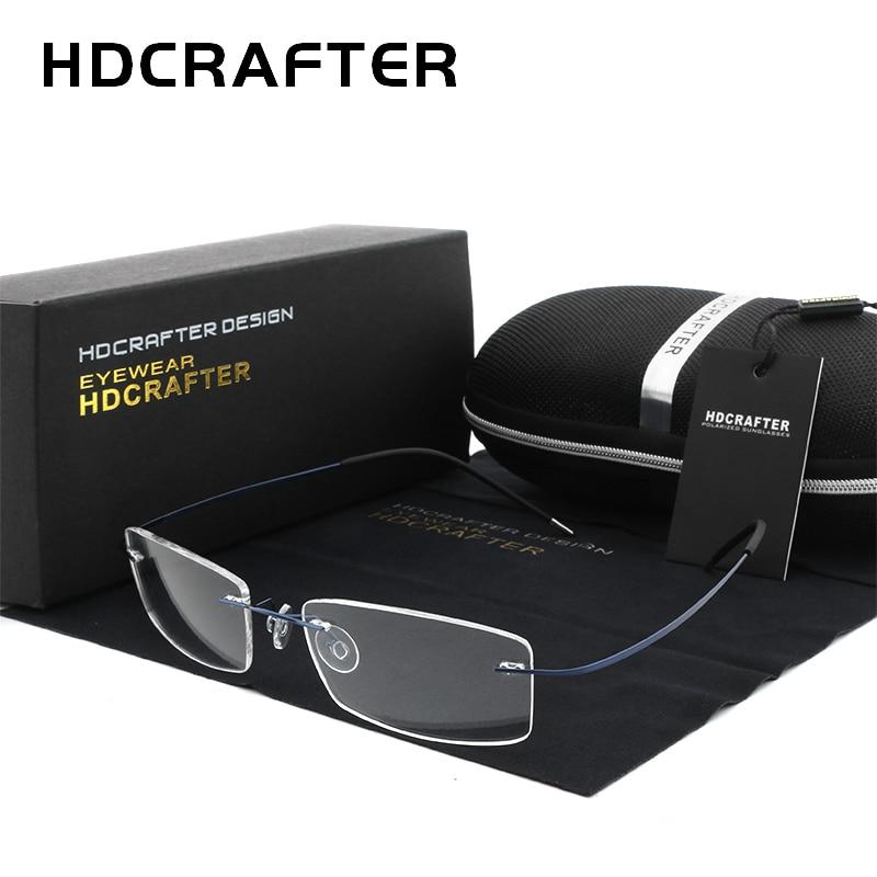 HDCRAFTER mode titane lunettes cadres hommes lunettes optique-lunetterie pour femmes lunettes myopes