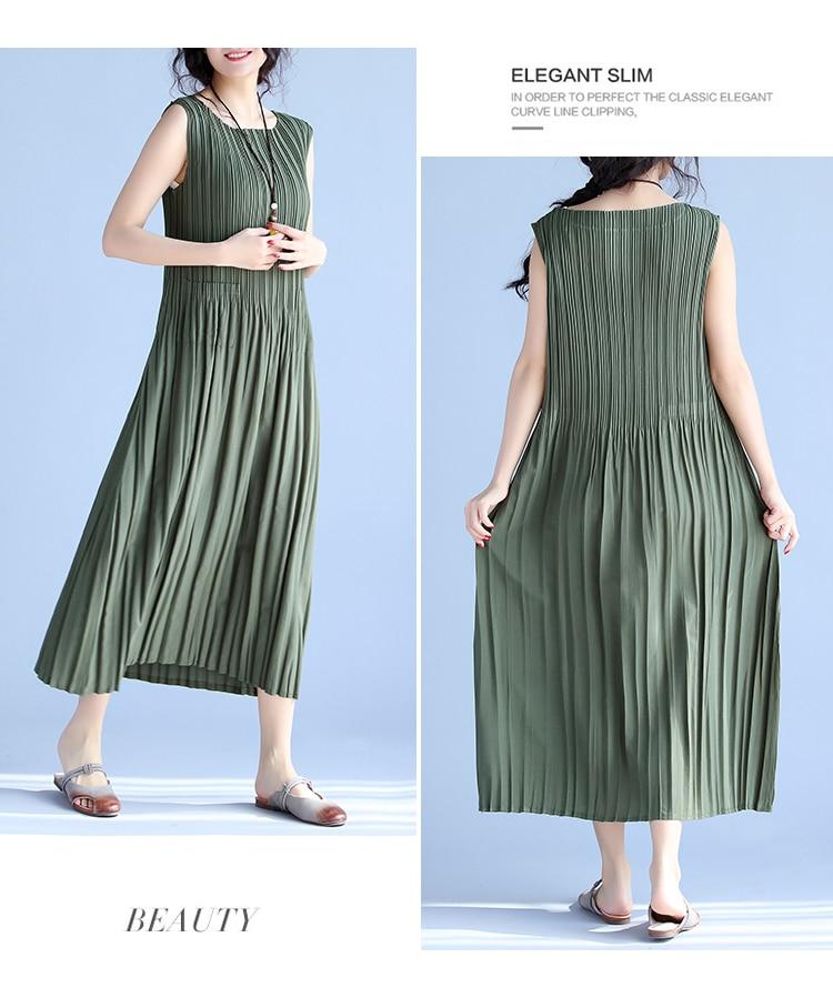 BelineRosa Women's Summer Dresses 17 Pure Color Casual Women Draped Dress Sleeveless Plus Size Dresses for Women QY00001 8
