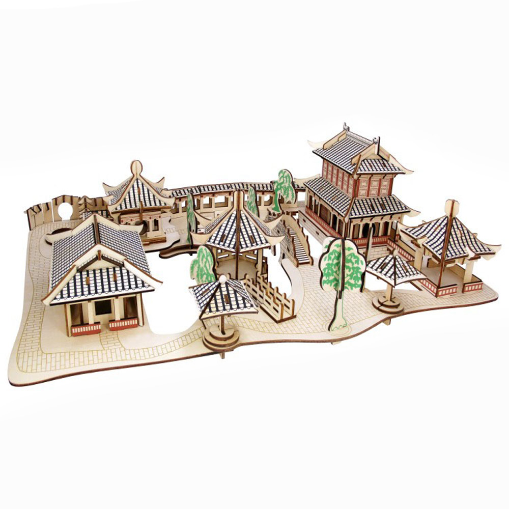 BOHS Suzhou Gardens  - Wooden 3D Puzzle Scale Miniature Models DIY  Handcraft for Grown-ups Building ToysBOHS Suzhou Gardens  - Wooden 3D Puzzle Scale Miniature Models DIY  Handcraft for Grown-ups Building Toys
