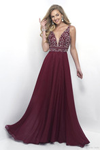 Luxury Beaded Burgundy Prom Dress 2017 Sexy V Neck Long Chiffon Tank Top Dresses For Party Gown Formal Evening Dress Sweep Train