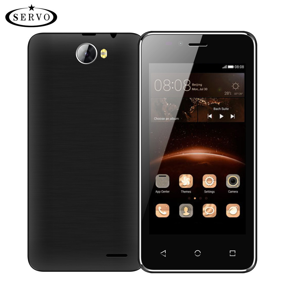 Цена за Оригинальный телефон servo h5 4.5 дюймов android 6.0 spreadtrum7731c quad core 1.2 ГГц смартфон 5.0mp wcdma мобильный телефон multi язык