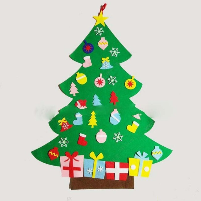 Tronzo DIY Christmas Tree Ornaments Decorations For Home Wall Hanging Party Supplies Xmas Gift Kids