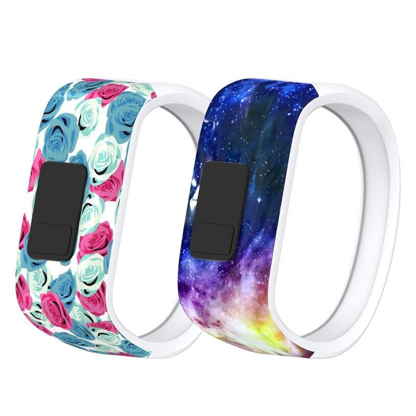 Яркие часы ремешок большой замена запястье 170 мм 145 мм кремния ремешок Застежка для Garmin Vivofit JR часы