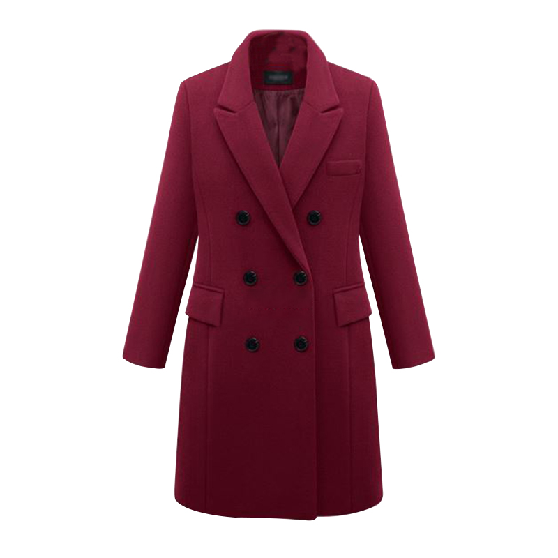 2016 European Women Autumn Winter Coat High Quality Woolen Coat Solid Color Elegant Casual Wool Big Yards Coat Plus Size 5XL (26)