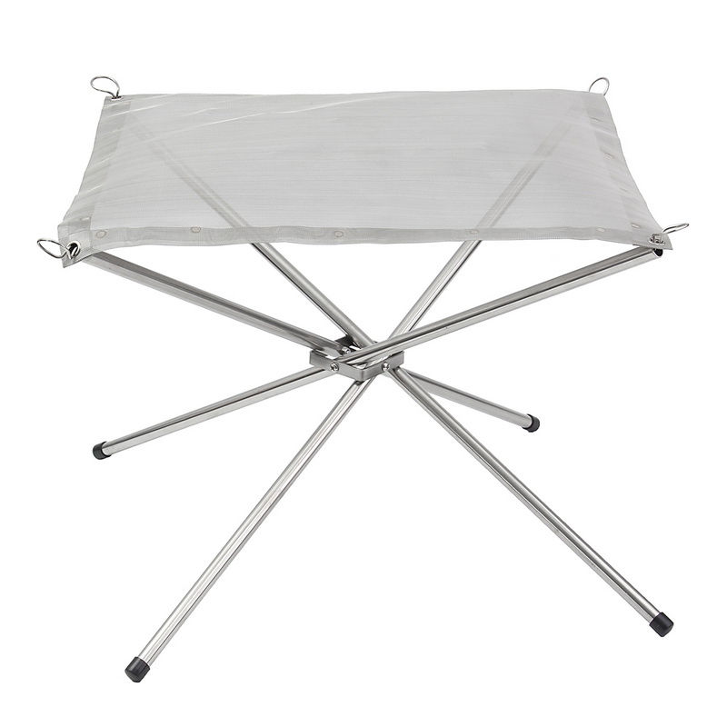 Portable Outdoor Fire Pit Collapsing Steel Mesh Fire Stand Perfect For Camping Backyard And Garden With Carrying Bag