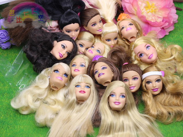 50pcs Foreign Trade Original Heads For Barbie Dolls DIY Birthday Gifts Mix Style Dolls Heads