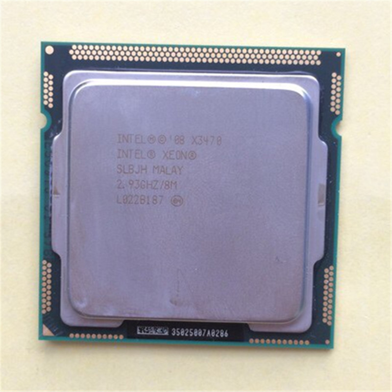 INTEL Xeon X3470 CPU/ LGA1156 socket /2.93GHz ~3.6ghz /8M/95W / /Quad-Core processor Dispersible tablets cpu