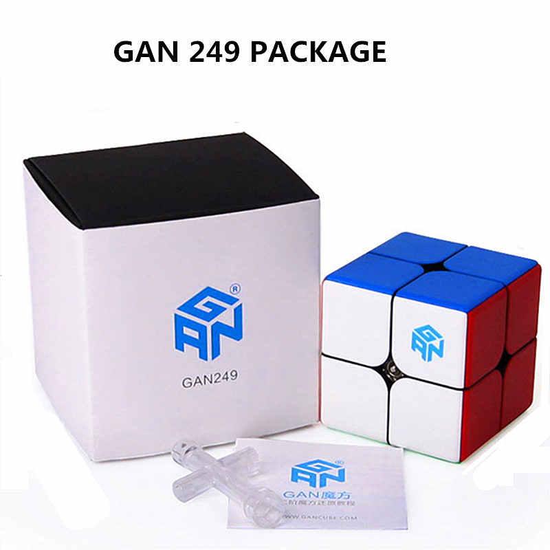 Gan249 V2 M 2x2x2 магнитные магические кубики Stickerless GAN 249 Карманный куб профессиональные магниты головоломка скоростной куб игрушки Gans
