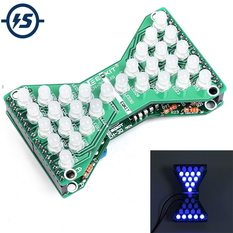 Search For Flights Ne555+74hc595 16bit 16 Channel Light Water Flowing Lights Led Module Kit Running Light Diy Kits Welding Practice Board Easy To Repair Active Components