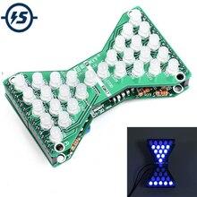 DC 5V Blue LED Electronic Hourglass DIY Kit Speed Adjustable Funny Electronic DIY Kits LED Double