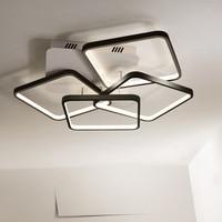 Modern Rectangle Aluminium Led Chandelier Minimalism Led Ceiling Chandelier For Living Room Dimmable Chandelier Lighting