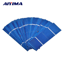 AIYIMA 50Pcs Solar Panel Solar Cell 78x26mm 0.5V 0.35W Color Crystal Module DIY Solar Battery Charger Power Bank China