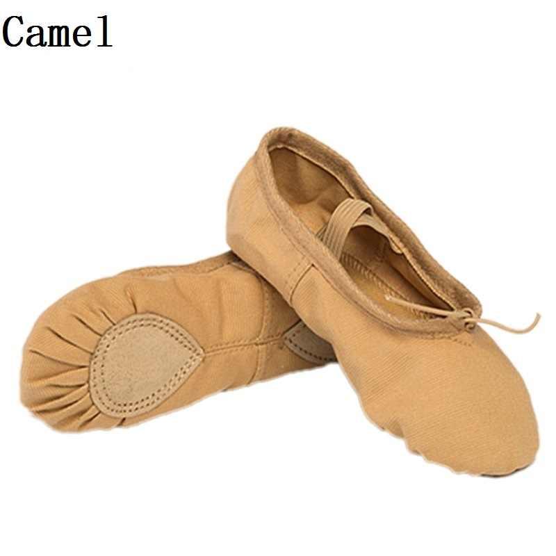 พัดลม wu fang ใหม่ 7 สีผ้าใบรองเท้าบัลเล่ต์รองเท้าเต้นรำรองเท้าโยคะรองเท้าผ้าใบเด็กผู้หญิงรองเท้าแตะตามซม. ซื้อ