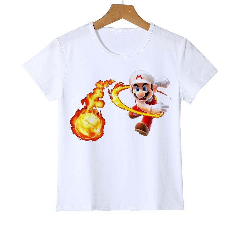 Mario Wario Boy Girl t-shirt dla dzieci 3D Super mario bros t-shirty - Ubrania dziecięce - Zdjęcie 3