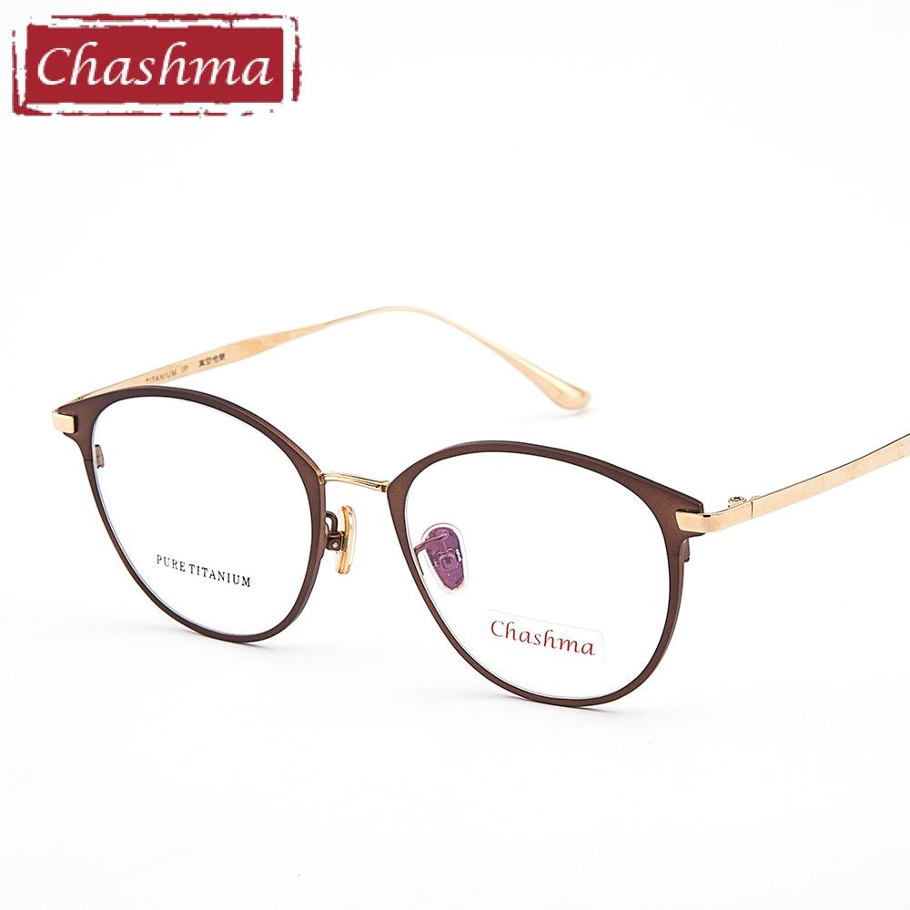 Chashma mujer titanio puro marco Lentes Opticos Gafas Titanium de ...