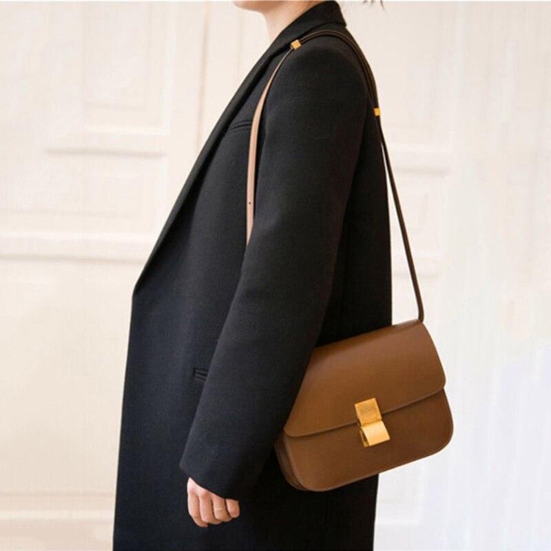 Классическая женская сумка на плечо в форме коробки, фирменный дизайн, сумки через плечо из искусственной кожи для женщин, клатч, модная маленькая сумка мессенджер - 2