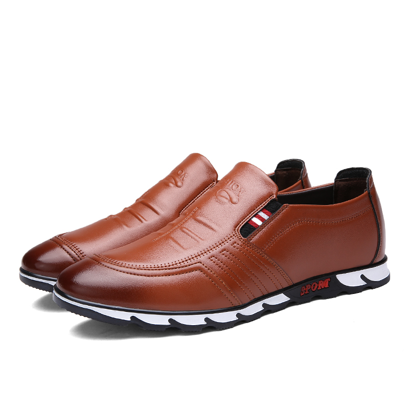 Men Sneakers Loafer Shoes Brown - MiraShop