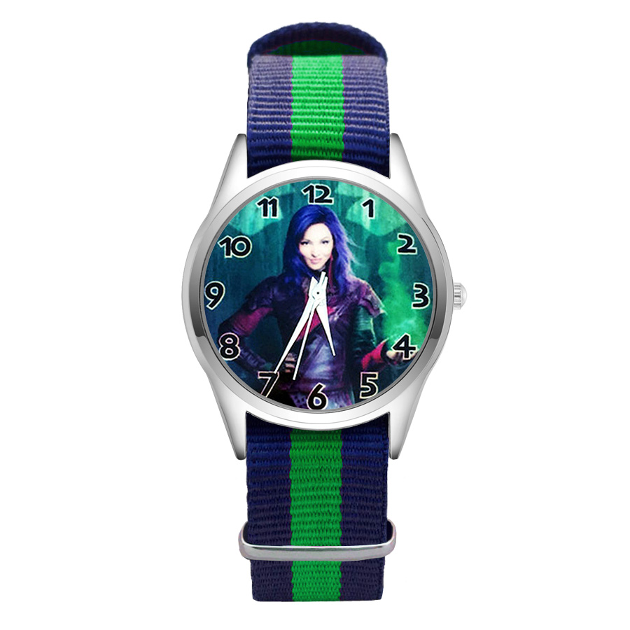 Fashion Cartoon pretty style Watches Women's Girls Students Boy's Children Nylon Strap Quartz Wrist Watch Clcok JC32