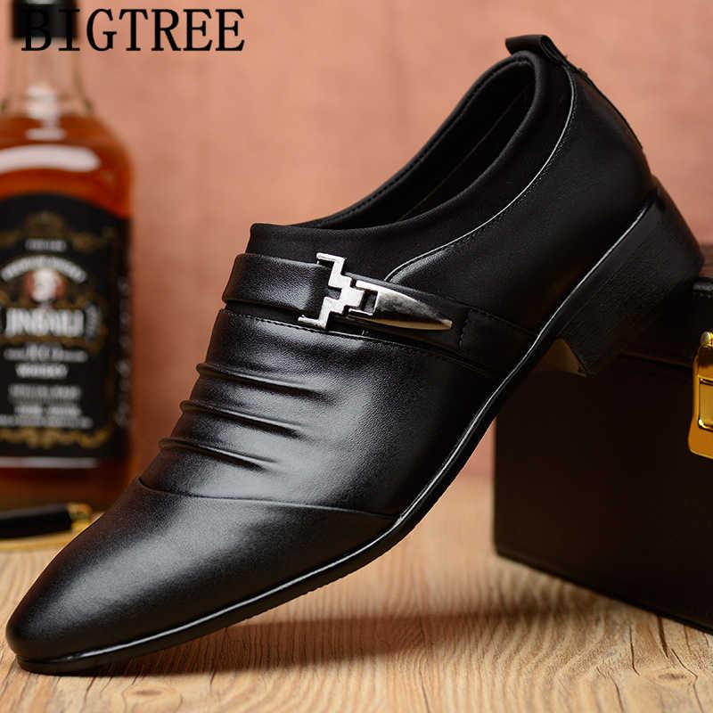 อิตาเลี่ยนแฟชั่น Oxford รองเท้าสำหรับบุรุษรองเท้าขนาดใหญ่รองเท้าหนังผู้ชาย Loafers SLIP ON masculino