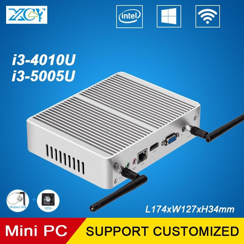 XCY Intel Core i34010u 5005U Mini PC 2.0 GHz Doble Núcleo oficina y Hogar de Esc